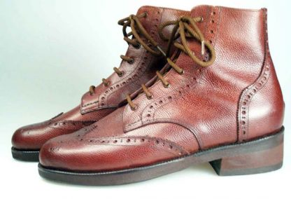 120mm high Derby boots with wing caps and counters