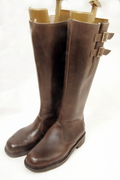 leather buckle sided boots