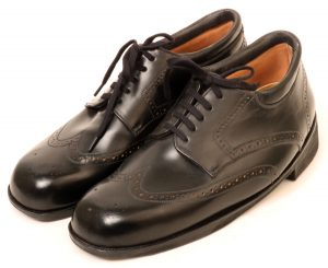 Black Cordovan Derby brogues for severe type ll diabetes