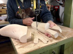 Bill Bird carves a boot tree - something that will double the life of the footwear.