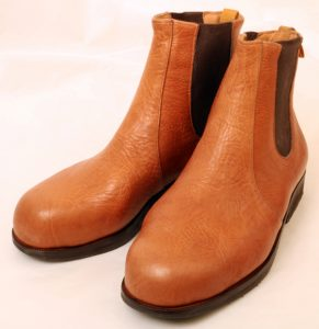 Walnut Softee Calf elastic sided boots for bunions