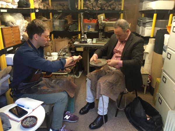 Bespoke shoemakers at Bill Bird Shoes in the Midlands