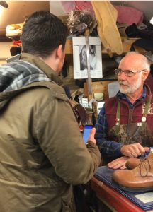 Our very own bespoke orthopeadic shoemaker Bill Bird is interviewed by Chris Mace from Radio Gloucestershire