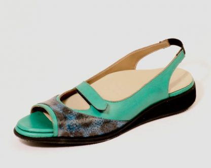 Womens sling backs with fish skin for very narrow feet