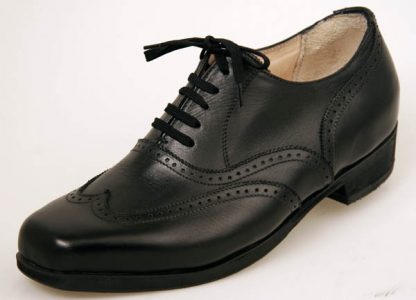 Black oxfords with wing caps