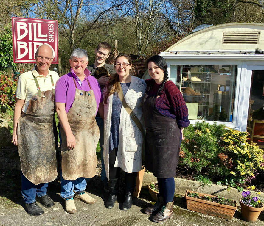 Our bespoke shoemakers at Bill Bird Shoes in the Cotswolds and London