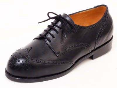 Black Derby Brogue for bunion and hammer toes