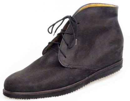 Derby boots in suede