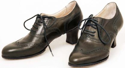 Full oxford brogues with 55mm covered applied heels