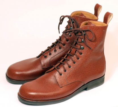 Tan high Derby Boots from Bill Bird Shoes