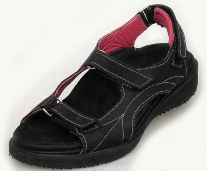 Black nu-buck made to measure casual sandals