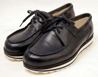 bespoke lace up boat shoes