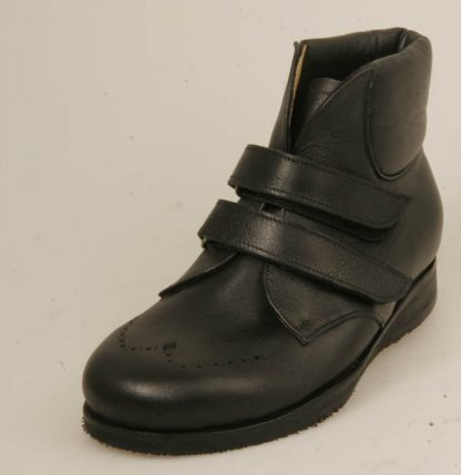 black boots velcro