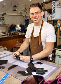 George bespoke shoemaker at Bill Bird Shoes in Gloucestershire W