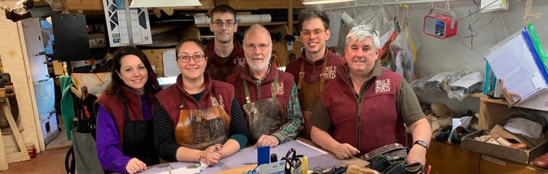 The shoemakers at Bill Bird Shoes in the Cotswolds and London