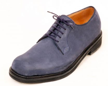 Blue Nu-buck Derby shoe