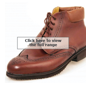 Bespoke Derby boots with brogueing from Bill Bird Shoes