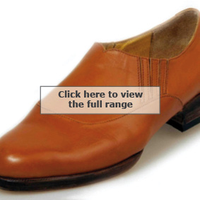Elastic sided slip on shoes in tan from bespoke shoemakers Bill Bird Shoes