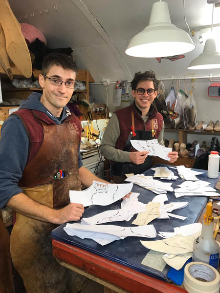 Bespoke shoemakers Chris and George from Bill Bird Shoes
