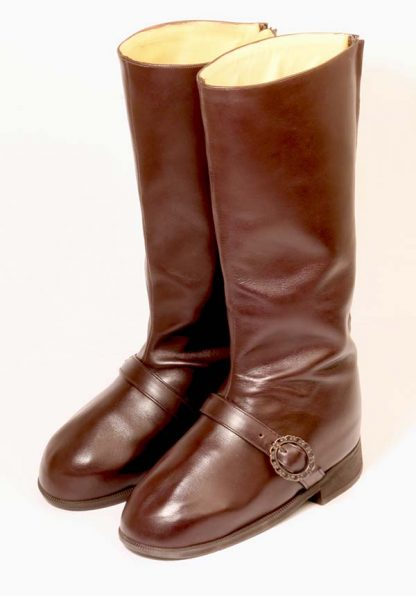 Soft zip up back boots for lady with swollen feet and ankles pair