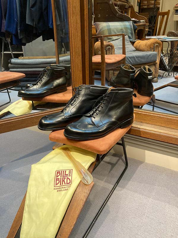 Bill Bird Shoes in London's Grey Flannel